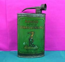 vintage Raleigh bicycle lubricating oil can 1920 s twin spout cap good details
