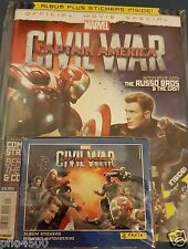 CAPTAIN AMERICA CIVIL WAR STARTER ALBUM & 50 PACKS FULL BOX STICKERS BRAND NEW