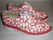 Dr Martens 1461 3-Eye Oxford Leopard Print Candy Pink White Size 8 USL UK6 EU39