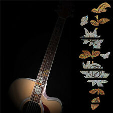 Guitar Bass Inlay Fretboard Sticker Marker DIY Fret Decal Butterfly over Flower