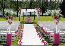Wedding Aisle Runner Marriage Ceremony White Bridal Carpet Rol Party Decor 100ft