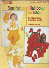 SUNSHINE & RAINBOWS FOR BABY to Knit & Crochet ~ Leisure Arts Pattern #277
