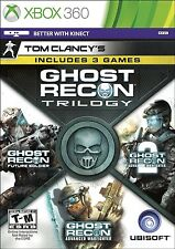 NEW Tom Clancy's Ghost Recon Trilogy Future Soldier Advanced Warfighter Xbox 360
