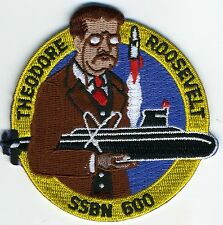 USS Theodore Roosevelt SSBN 600 - 3 inch BC Patch Cat No C5765