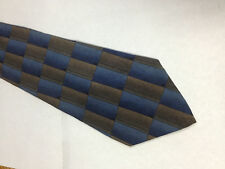 Mens Brown Blue Black SILK Tie Necktie DANIEL HECHTER~ FREE US SHIP (11607)