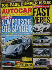 Autocar 04/12/2013 - Porsche 918 Spyder, AMG Special, Mazda 3 2.2D, Nissan GT-R