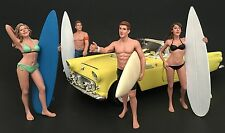 American Diorama 1/24 Four Figure Surfer Set -- Casey, Paris, Greg, Jay