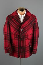 Vtg 30s Men's SOO Woolen Mills Hunter's Coat sz 40 1930s Plaid Wool Jacket #2078