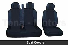 2+1 Front Seat Covers + Headrest Black / Black FOR OPEL VAUXHALL VIVARO MOVANO