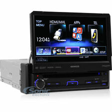 """Kenwood KVT-7012BT Single DIN Bluetooth Flip-out 7"""" LCD DVD Car Stereo Receiver"""