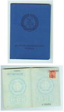 DDR GDR Ausweis Personalausweis mit Stempeln 1981 ungültig