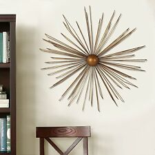 Adeco Decorative Gold-Color Iron Wall Hanging Accents Decor Widget, Contemporary
