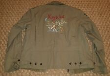 VTG OLIVE POLO RALPH LAUREN EMBROIDERED KEY WEST MILITARY BOMBER JACKET MENS M