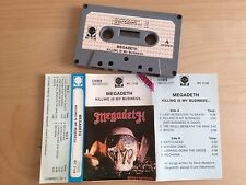 MEGADETH - Killing is my business... MC 1990 RARE 1'ST POLISH PRESS NM grey