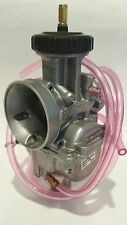 Keihin PWK 39mm 39 mil Chrome Flat D Slide Carb Carburetor LT500 TRX250R CR500