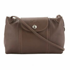 Longchamp Natural Metis Leather Le Pliage Cuir Crossbody Bag (New with Tags)