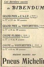 PNEUS MICHELIN SUCCES DE BIBENDUM PUBLICITE 1905