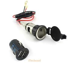 12V 120W Cigar Cigarete Lighter Car Charger Plug Socket Adapter Dual USB  #T1K