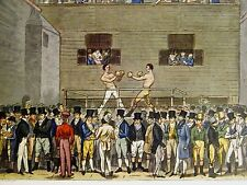 Cruikshank BOXING at FIVES COURT in LONDON FIGHTING 1924 Vintage Print Matted