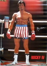 RARE SLYVESTER  STALLONE ROCKY IV 1985 VINTAGE ORIGINAL MOVIE PIN UP POSTER