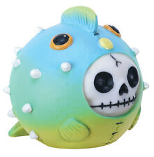 FURRY BONES FIGURINE - PUFFINGTON THE PUFFERFISH - SKELETON SKULL IN COSTUME