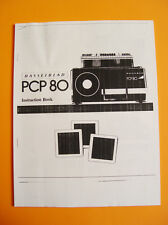 Hasselblad PCP-80 Instruction Book