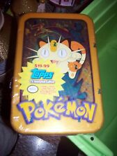 SEALED pokenmon topps tv animation edition tin box 7 pack 7 cards 1 foil 1 mega