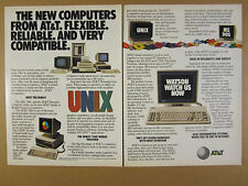 1984 AT&T 3B2 3B5 & Personal Computers UNIX MS-DOS Systems vintage print Ad