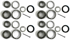 FOUR - Trailer Bearing Kits for 3500# Axles #84 Spindle 44649 / 68149 Bearings