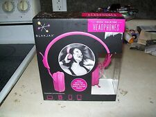 """NEW IN BOX """"BLAKJAX NOISE ISOLATION HEADPHONES"""" PINK GREAT FOR ALL DEVICES"""