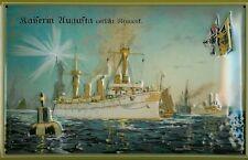 Kaiserin Augusta verläßt New York Blechschild Schild Blech Tin Sign 20 x 30 cm