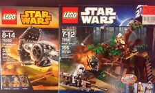 LEGO Star Wars #7956 Ewok Attack Endor + TIE Advanced Prototype 75082 Lot New!