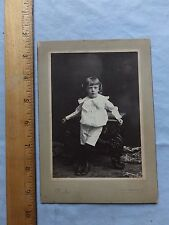 ca.1900 Cabinet Photo - Serious Looking Little Child, Hagerstown, Maryland