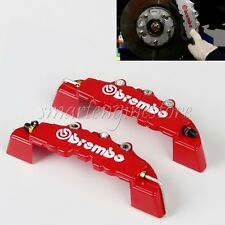 4PCs 3D Red BREMBO Car Brake Caliper Cover Free Glue Universal Big + Medium