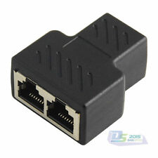 Ethernet RJ45 Cable Female to 2x Female Socket Splitter LAN Connector Adapter PC