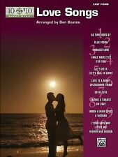 10 for 10 Sheet Music Love Songs: Easy Piano Solos, Staff, Alfred Publishing, Ne
