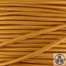 Textilkabel Stoffkabel Lampen-Kabel Stromkabel Elektrokabel  Gold 3 adrig