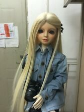 "7-8"" Hair Wig 1/4 BJD MSD SD BJD Doll Super Dollfie Wig Blond central parting"