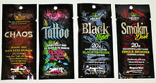 New 4 Sample Packets SUPRE CHAOS TATTOO SMOKIN DARK BLACK VIPER TANNING LOTION