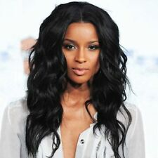 Vogue Centre Parting Charming Long Shaggy Wavy Black Women's Wig Hair No Lace