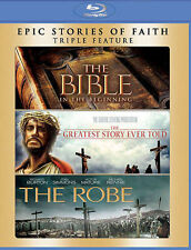 The Bible/The Greatest Story Ever Told/The Robe (Blu-ray Disc, 2014, 3-Disc Set)
