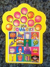 RARE Vintage 1985 McDonalds Mcsquares Birthday Party Game Board,Test Market Item
