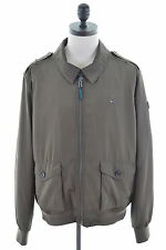 Tommy Hilfiger Mens Harrington Jacket Size 48 XXL Khaki Polyester