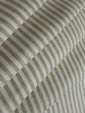 "Weave Tan Stripe 100% Linen Fabric Cloth Natural Organic LightWeight Width 59"""