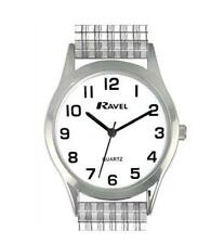 Ladies ravel white face watch with silver coloured expanding strap R0201.01.2s