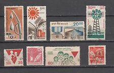 India 7th Definitive Series Complete set 8 vls  Used Stamps
