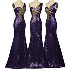 Sexy Formal Evening Long Gown Party Prom Ball Bridesmaid Dresses Sequins Mermaid