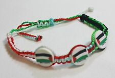 New Palestinian Bracelet - Three Palestine Color Flags adjustable Wristband
