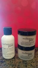 NEW PHILOSOPHY MICRODELIVERY PEEL SET 2 OZ CRYSTALS 2 OZ ACTIVATING