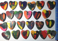 25 MULTICOLOR Valentines Day HEARTS Recycled Crayons stuffers PARTY FAVOR